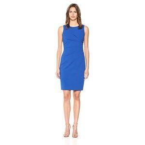 Blue Sleeveless Sheath Cocktail Dress